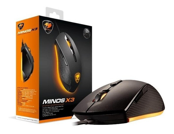 Mouse Minos X3 Black Edition 3200 Dpi 8 Colors Cougar