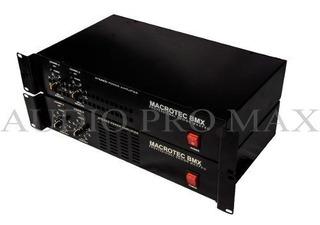 Potencia Macrotec 1600w (800 + 800) Uso Continuo 12 Cuotas!