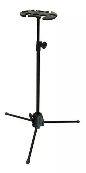Pedestal Suporte Descanso Saty P/6 Microfones Com Ou Sem Fio