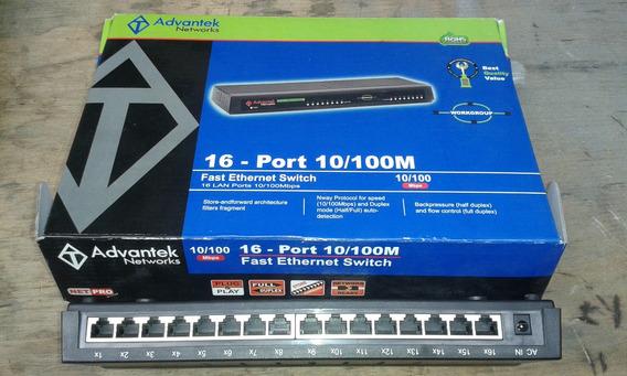 Switch 16 Puertos 10/100mbps Advantek