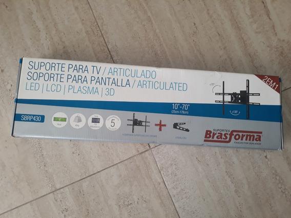 Suporte Tv Articulado Brasforma Sbrp 430 - 10 A 70 - 2em1