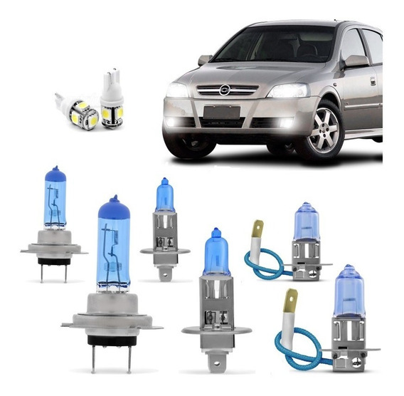 Kit Lampadas Astra 2003 2004 2005 2006 2007 2008 2009 2010 2011 2012 Super Brancas Farol H7 H1 Milha H3 Techone 8500k