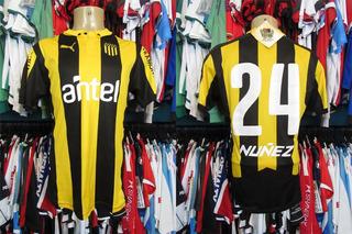 Peñarol 2015 Camisa Titular Tamanho M Número 24.