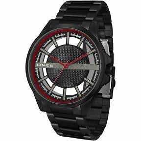 Relógio Lince Masculino Ref: Mrn4580s P1px Casual Black