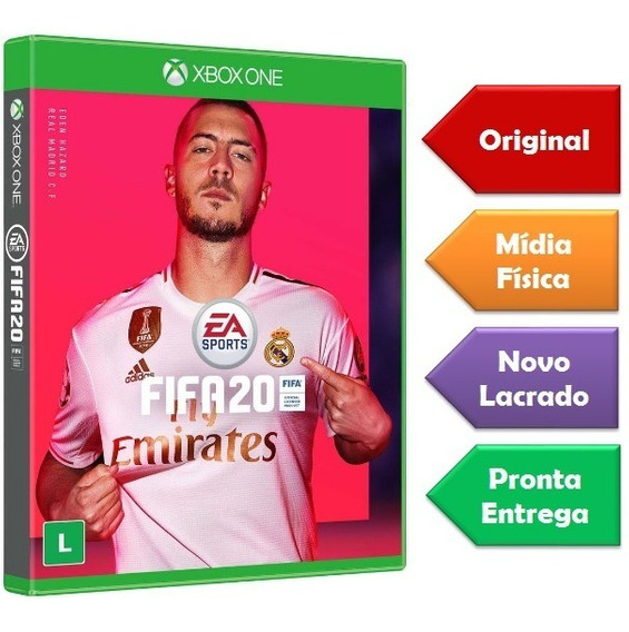Fifa 20 Xbox One Mídia Física Lançamento Pronta Entrega