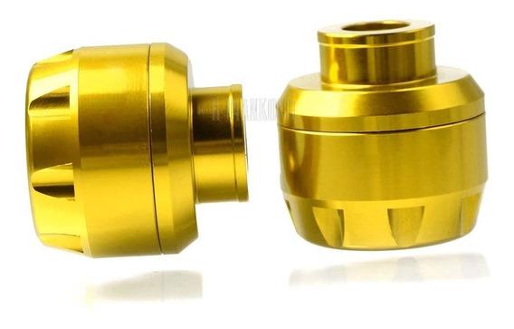Slider Eixo Roda Dianteira Moto Universal M16 Dourado