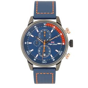 Relógio Masculino Cronógrafo Grafite E Azul Pl80050612m Az
