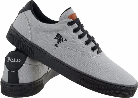 Sapatenis Masculino Polo Sapato Cinza/preto