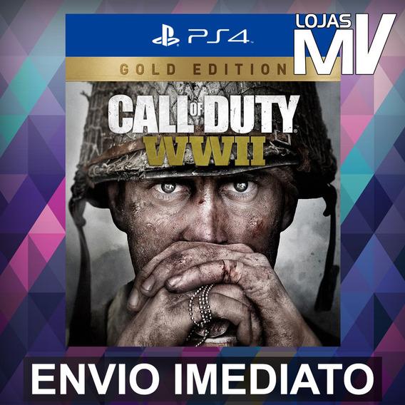 Call Of Duty Ww Ii Edição Ouro - Ps4 Código 12 Dígitos