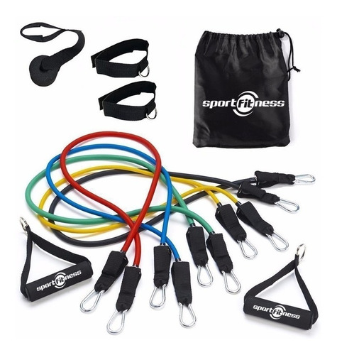 Kit Bandas Elásticas Tubulares X 10 Piezas Sport Fitness Gym