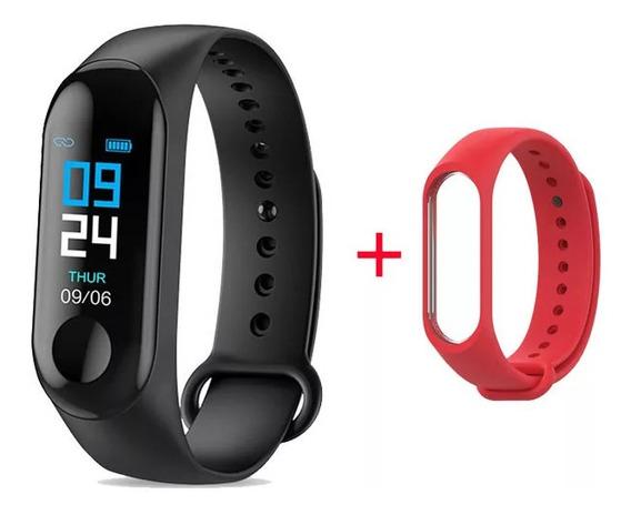 Relógio Inteligente Bracelete M3 Bluetooth + Pulseira Extra