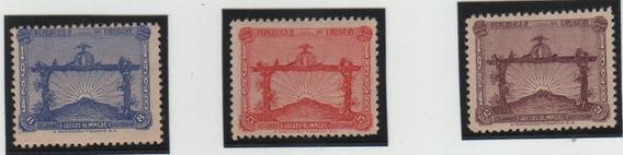 Estampillas Uruguay. Olimpiadas 1928