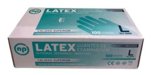 Insumo Guantes Examen Latex Descartable Caja X 100 Un Np