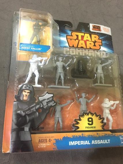 9 Bonecos Star Wars Command Imperial Assault, Na Caixa