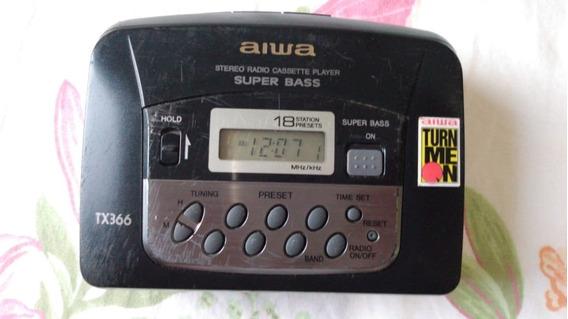 Walkman Aiwa Tx366 Toca-fita Funciona Rádio Não 01/03 #59