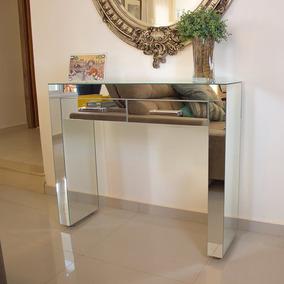 Aparador Espelho Lapidado - 110x30x85 - 2 Gavetas
