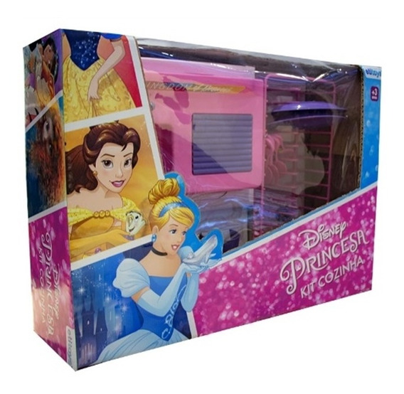 Kit Cozinha Infantil Princesas Disney Pia Talheres Completa