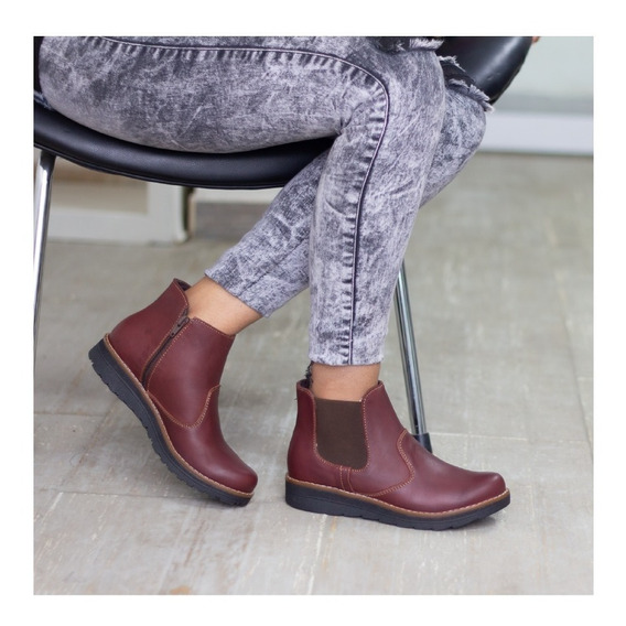 Botines Cuero Dama, Zapatos Cuero Maribu Shoes - Mod #732