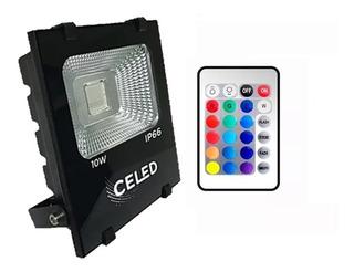 Reflector Led 10w Rgb Control Remoto Celed Multicolor Ip66
