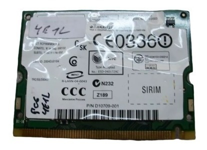 Placa Wifi Intel 1-761-864-51 Netbook Sony Pcg-4e1l