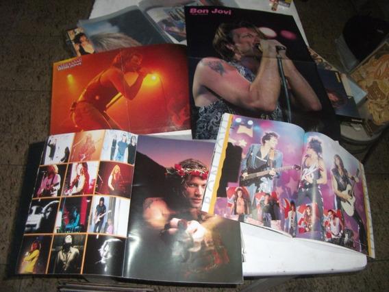 Revista Bon Jovi Lote 3 Pastas Com Diversos Poster E Fotos
