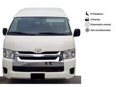 Renta Camioneta Van 15 Pasajeros Toyota Hiace 2019