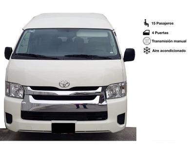 Renta Camioneta Van 15 Pasajeros Toyota Hiace 2019 Monterrey