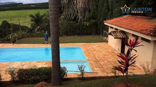 Chácara Com 4 Dormitórios À Venda, 12000 M² Por R$ 980.000,00 - Ponte Alta - Atibaia/sp - Ch1334