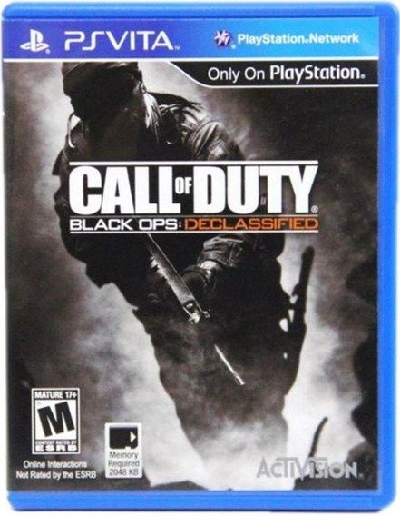 Lacrado Call Of Duty Black Ops Declassified Psvita Jogo Novo