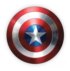 Escudo Capitão América 50x50cm Placa Display Em Mdf