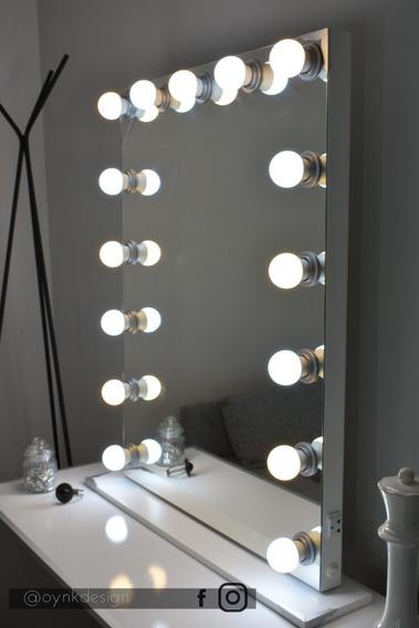 Espejo Hollywood Maquillaje 90x70 + Luces Led + Envio Gratis