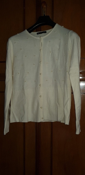 Sweater Saco Lana Beige Basement Talle M