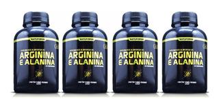 04 Arginina + Alanina Vasodilatador 400 Cápsulas 1000mg No2 Oxido Nitrico + Frete Grátis Brasil