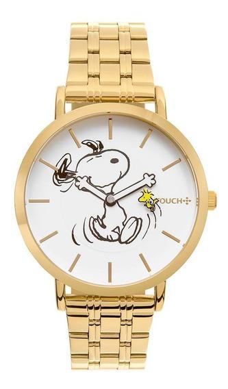 Relógio Touch Unissex Snoopy Pira Dourado Tw2034lcc/4b