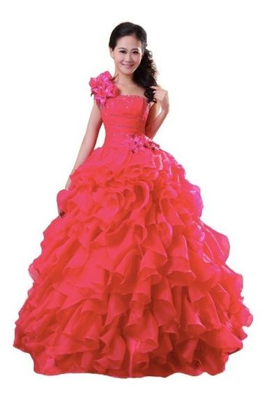 Vestido De Festa Debutante 15 Anos Princesa Lilas Pink Branc