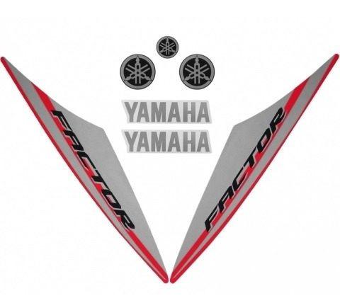 Faixa Ybr 125 Factor 15/16 - Moto Cor Vermelha - Kit 207