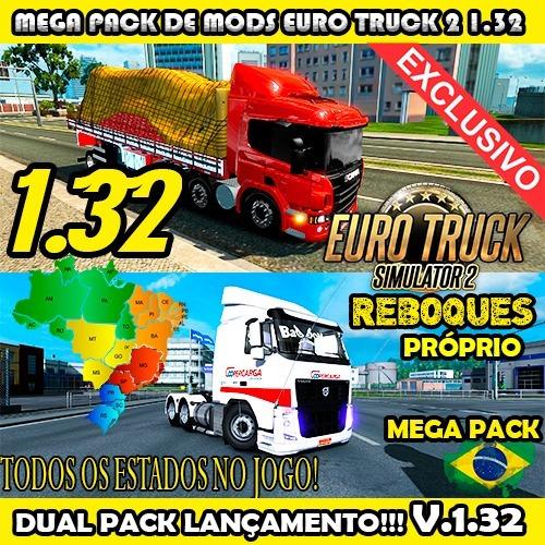 Euro Truck Simulator 2 - Jogo Pc - Mods Brasil 2018 V.1.32