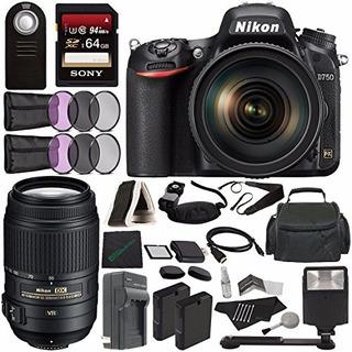 Cámara Réflex Digital Nikon D750 Con Lente De 24-120 Mm + Ni