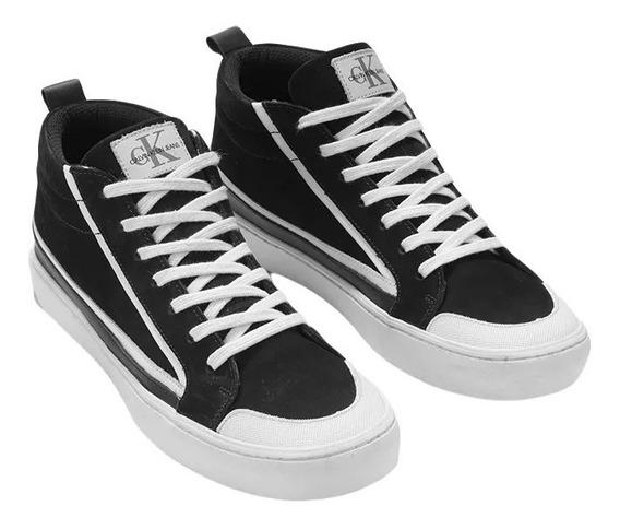 Tenis Ckj Couro Cano Alto Skate Sneaker