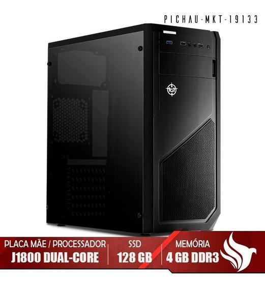 Computador Home Pichau, J1800, 4gb Ddr3, Ssd + Kit Teclado