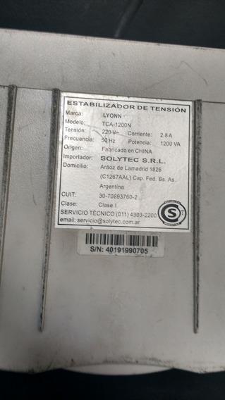 Estabilizador De Tension Lyonn 1200va 4 Tomas Pc Monitor