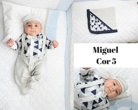 Kit Saída Maternidade Menino 4 Peças Miguel