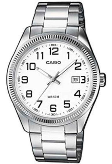 Relógio Casio - Ltp-1302d-7bvdf - Steel Steel - White Dial -