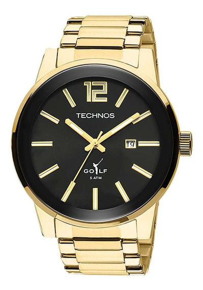 Relógio Technos 2115kqu/4c Masculino Classic Golf Dourado