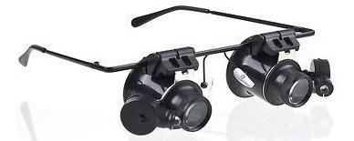 Óculos Lupa 20x Relojoeiro Joalheiro C/luz Ajustável Oferta