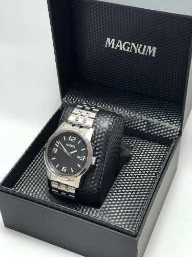 Relogio Social Masculino Prata Magnum Ma32158t Garantia