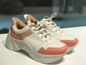 Tênis Chunky Sneaker Branco Com Rosa Suzana Santos