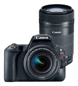 Canon Sl2 Premium Kit 18-55 Stm +55-250 Nf-e Rev Autor Canon