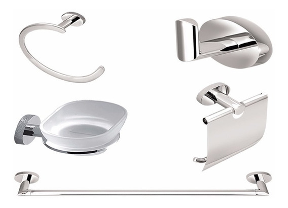 Kit De Acessórios De Banheiro Luxo 1 Sofisticatto Forusi