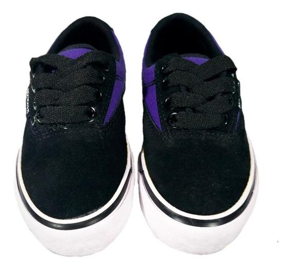 Zapatillas Airwalk Niñ@s (negro/violeta)